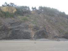 rock slide near Arch Cape