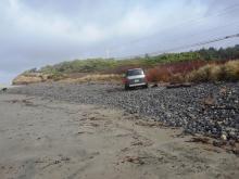 vehicle on beach
