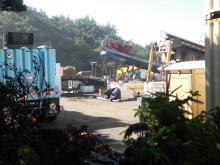 PacWave construction work, Driftwood Wayside parking area