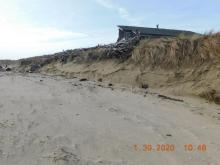 Erosion at tip of Alsea Spit