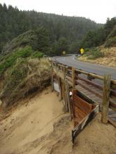 Temporary repairs to Cape Cove Trail