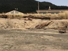 King tide dune erosion threatens homes at Nadona Beach