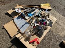 Debris picked up from Three Rocks Beach
