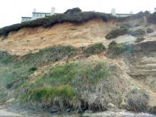 Erosion of bank below Ester Lee Hotel, Lincoln City