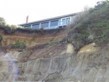 Cliff erosion.