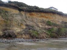 Cliff erosion Mile 208.