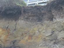 close up of erosion