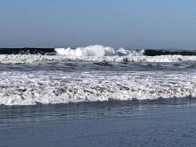 Pretty big surf at Nadonna Beach