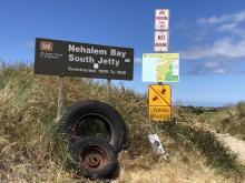 Nadonna beach entrance signage