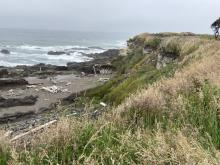 Ocean View Drive north of overlook