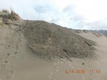 New sand dump