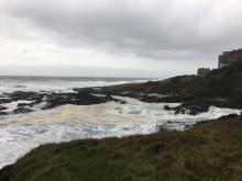 North Cape Perpetua looking north at high tide
