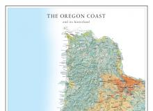 Title section of Oregon coast map.