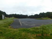 Parking area, Driftwood Beach State Wayside