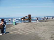 A beautiful day at the Peter Iredale in Fort Stevens State Park