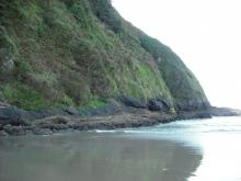 Northern end of Heceta Head.  No apparent erosion.