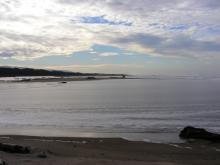 With the ocean washing over a large portion of the south beach, the New River/Two-mile Creek area has a large lagoon.