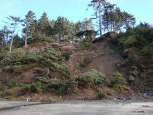 landslide, contacted property owners