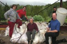 Phil Blanton, Steve Bauer, Vivi Tallman, Jaxon Clanton (in rear), and Bill O'Brien.