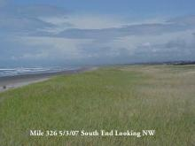 South terminus of mile 326 looking to the NW from crest of foredune.