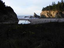 View looking Northwestward out of Simpson's cove on mile 119 of the Oregon coast.