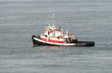This tugboat was to pull the Lori Ann offshore.  It finally succeeded around 4pm on August 13. Unfortunately, I had to work and was unable to photograph the actual refloating.