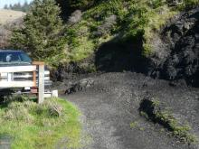 Gate and access between gate and eroding bluff at Frankport site