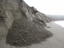 We have never seen this type of erosion or seen New River this large and deep.