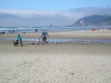 they are playing in the area where the Ecola Outfall goes to the ocean