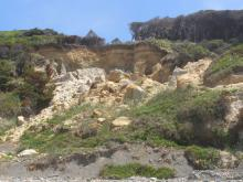 Significant erosion occurred below the rim of bluffs below houses built near the bluff edge.