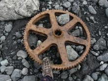 This wheel is exposed seasonally