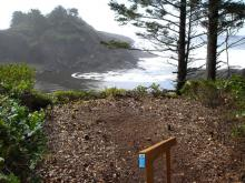 View from stairway to the edge of the bluff.