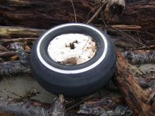 Several of these foam filled tires have washed up in the past several months
