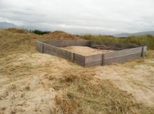 Showing current condition of structure constructed on foredune