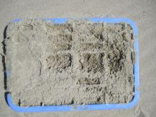 """Plastic tray  approximately 12"""" x 24"""" see writing in next photo."""