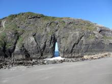 Photo of an Arch Rock taken at low tide (minus 0.1) near the south end of Mile 8.