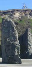 Unusual 50-ft tall sentinel rock
