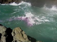 Another photo of purple foam in the Churn
