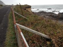 More erosion affecting road