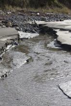 mini-erosion created accommodating this run off