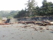 Erosion at north end of mile