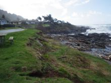 View toward Agate Cove from first parking area on Yachats Ocean Road