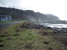 Looking south toward Agate Cove along Yachats Ocean Road