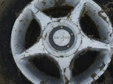 Flat tire on rim