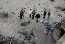 Marking the shore side gridline