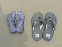 Found 2 sets of sandals that visitors left.