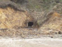 Culvert that had a great deal of landslide debris has been cleaned out.
