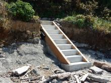 New concrete stairway