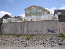 More graffiti on private seawalls. This owner recently filed police report.