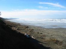 Scoured beach